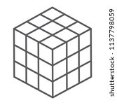 math cube thin line icon  block ... | Shutterstock .eps vector #1137798059
