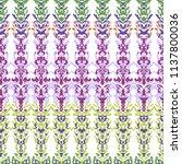 ornament ikat hand drawn vector ... | Shutterstock .eps vector #1137800036