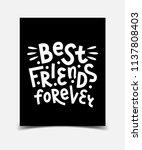 best friends forever. hand... | Shutterstock .eps vector #1137808403