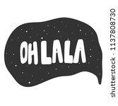 oh la la. sticker for social... | Shutterstock .eps vector #1137808730