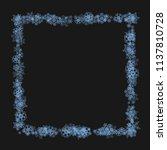 snowflake border for christmas... | Shutterstock .eps vector #1137810728