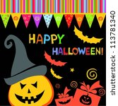 halloween card. celebration... | Shutterstock . vector #113781340