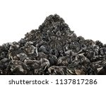 big pile of trash bags on a... | Shutterstock . vector #1137817286