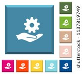 maintenance service white icons ... | Shutterstock .eps vector #1137819749