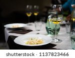 mysterious fancy dinner with... | Shutterstock . vector #1137823466