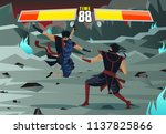 fighting videogame characters | Shutterstock .eps vector #1137825866