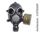 Gas Mask Isolated On White...