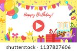 vector cartoon style video and... | Shutterstock .eps vector #1137827606