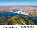 the victoria falls is the... | Shutterstock . vector #1137830006