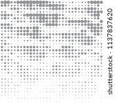 gray halftone of halftone dots...   Shutterstock .eps vector #1137837620
