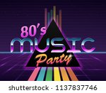 vector image of old  retro ... | Shutterstock .eps vector #1137837746