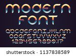 color  bright font in the old... | Shutterstock .eps vector #1137838589