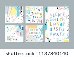 thank you  happy birthday ... | Shutterstock .eps vector #1137840140