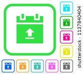 upload schedule data vivid... | Shutterstock .eps vector #1137840404