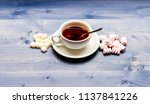 tea break concept. drink and... | Shutterstock . vector #1137841226