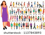 vector  isolated  set of people ... | Shutterstock .eps vector #1137843893