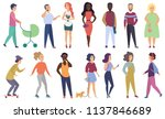 vector group of male and female ...   Shutterstock .eps vector #1137846689