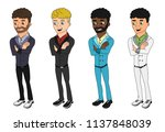 collection of illustrations of... | Shutterstock . vector #1137848039