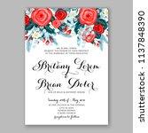 floral wedding invitation ... | Shutterstock .eps vector #1137848390