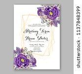 floral wedding invitation ... | Shutterstock .eps vector #1137848399