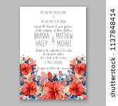 floral wedding invitation ... | Shutterstock .eps vector #1137848414