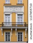 facade building with balcony... | Shutterstock . vector #1137855710