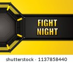 vector illustration of mma cage.... | Shutterstock .eps vector #1137858440