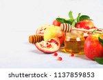 rosh hashanah jewish new year... | Shutterstock . vector #1137859853