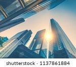 abstract futuristic cityscape... | Shutterstock . vector #1137861884
