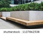modern details of architecture. ... | Shutterstock . vector #1137862538