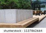 modern details of architecture. ... | Shutterstock . vector #1137862664