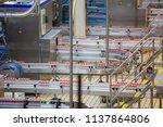 roller conveyor pack up of... | Shutterstock . vector #1137864806