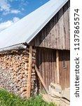 farm architecture in village... | Shutterstock . vector #1137865574