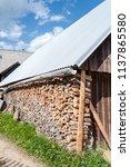 farm architecture in village... | Shutterstock . vector #1137865580