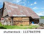 farm architecture in village... | Shutterstock . vector #1137865598