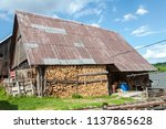 farm architecture in village... | Shutterstock . vector #1137865628