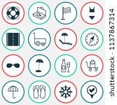 tourism icons set with bikini ... | Shutterstock .eps vector #1137867314