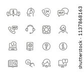help and support related icons  ... | Shutterstock .eps vector #1137868163
