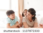 image of happy family woman 30s ... | Shutterstock . vector #1137872333