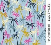 coconut palm tree pattern... | Shutterstock .eps vector #1137874163