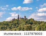 medieval castle braunfels on... | Shutterstock . vector #1137878003