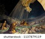 bethlehem may 20  2018  mural... | Shutterstock . vector #1137879119