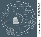 scientific  education elements. ... | Shutterstock .eps vector #1137880766