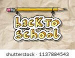 hand drawn doodle back to... | Shutterstock .eps vector #1137884543