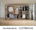 big wardrobe with different... | Shutterstock . vector #1137885146