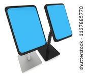 lcd screen stand. trade show... | Shutterstock . vector #1137885770