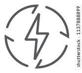 renewable energy line icon ... | Shutterstock .eps vector #1137888899