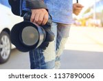 close up of photographer... | Shutterstock . vector #1137890006