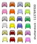 icon set vehicles | Shutterstock .eps vector #113789500