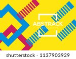modern geometric abstract... | Shutterstock .eps vector #1137903929